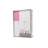 Ντουλάπα Pink Bunny τρίφυλλη – Διαστάσεις: 142x204x67εκ. – New Joy – pink-bunny-ntoulapa_3f New Joy